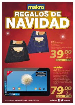 Ofertas folleto regalos para navidad de Makro