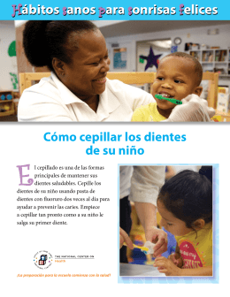 series in Spanish - National Maternal and Child Oral Health