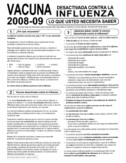 Flu - Vaccine Information (Espanol)