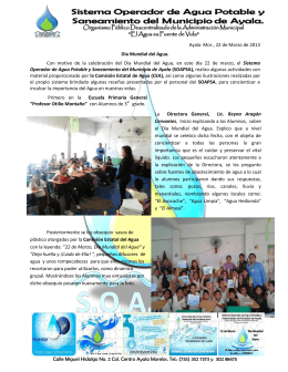 Día mundial del agua en Ayala