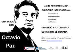 Folleto Coloquio internacional Octavio Paz