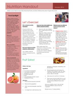 Nutrition Handout - Fairfax County Public Schools