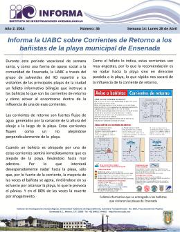 Informa la UABC sobre Corrientes de Retorno a los bañistas de la