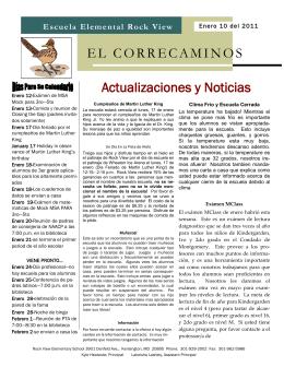 Actualizaciones y Noticias EL CORRECAMINOS