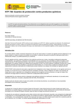 NTP 748: Guantes de protección contra productos químicos (pdf
