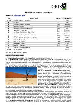 NAMIBIA, entre dunas y naturaleza