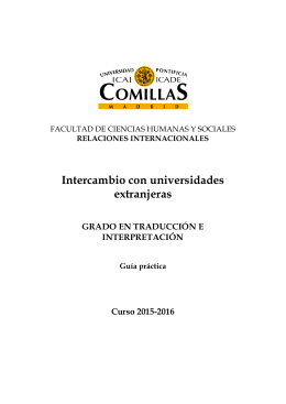 Folleto intercambio T-I 15-16 - Universidad Pontificia Comillas