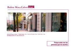 Español - Bufete Mas y Calvet