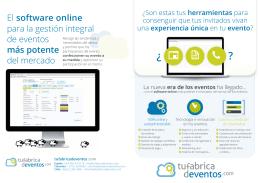El software online para la gestión integral de eventos más potente