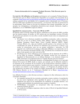 4WC/E/7(a) (b) (c) – Apéndice 1 Puntos destacados de la