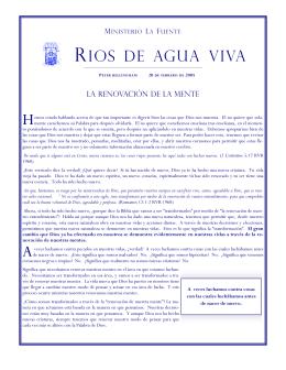 RIOS DE AGUA VIVA - ministeriolafuente.org