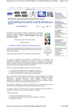 Página 1 de 3 DomoticaViva.com | Noticias | KNX Workshop
