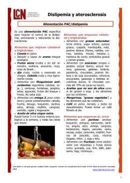 Alimentación PAC/dislipemia