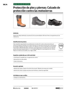 Protección de pies y piernas: Calzado de protección contra las