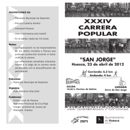 "XXXIV CARRERA POPULAR ""San Jorge"""