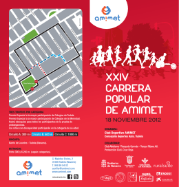 XXIV CARRERA POPULAR DE AMIMET