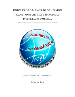 Folleto Informativo de la Carrera