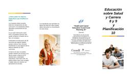 Educación sobre Salud y Carrera 8 y 9 y Planificación 10