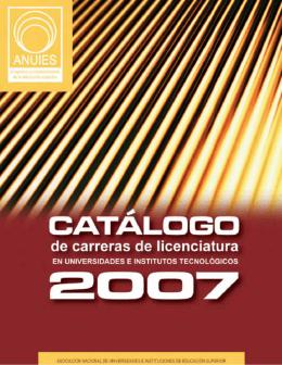 Catálogo de carreras ANUIES