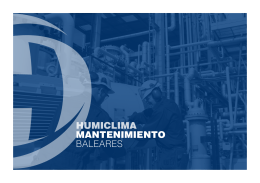 FOLLETO Humiclima MANTENIMIENTO