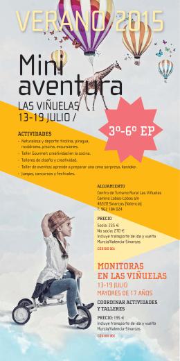 Folleto 2015 Miniaventura. Las Viñuelas
