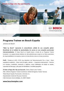 información sobre el Programa Trainee en España