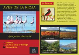 Aves de La Rioja - Aves Argentinas