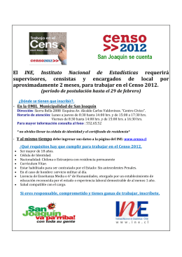 folleto reclutamiento censo 2012