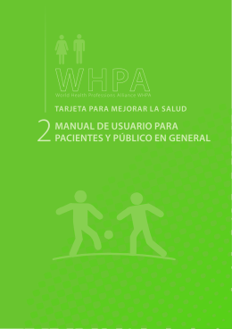 manual de usuario para pacientes y público en general