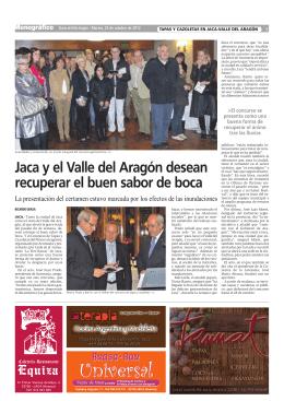 Jaca y el Valle del Aragón desean recuperar el buen sabor de boca