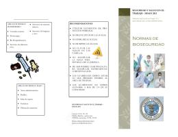 Normas de bioseguridad - Dirección de Sanidad Naval