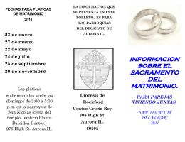 informacion sobre el sacramento del matrimonio. para parejas
