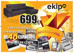 DE ESPACIOS - Ekipmuebles