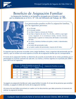 Beneficio de Asignación Familiar