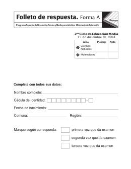 folleto ciencias 2º A
