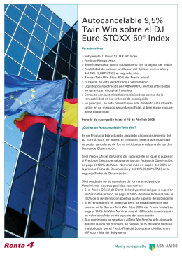 Autocancelable 9,5% Twin Win sobre el DJ Euro STOXX 50® Index