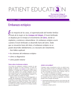 Patient Education Pamphlet, SP155, Embarazo ectópico