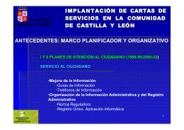 IMPLANTACIÓN DE CARTAS DE SERVICIOS EN LA COMUNIDAD