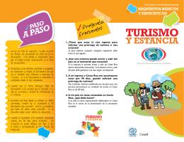 Turismo y estancia
