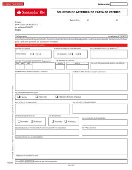 Solicitud de Apertura de Carta de Crédito (Form 6-165)