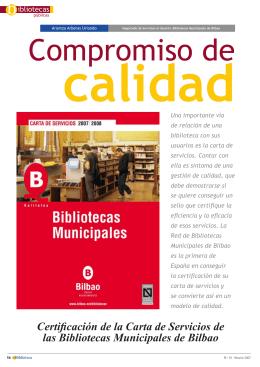 Certificación de la Carta de Servicios de las Bibliotecas