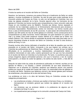Carta de Advertencia - Colombia