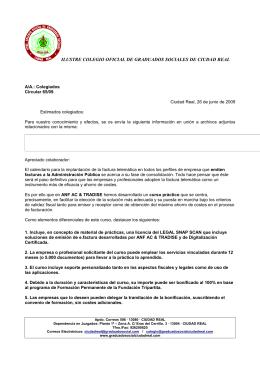Cartas del Colegio - Colegio de Graduados Sociales
