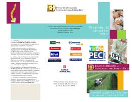 Programa de Garantías PYMES