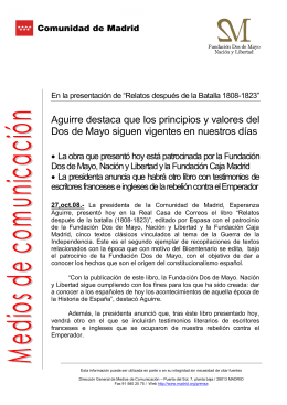 Texto - Comunidad de Madrid