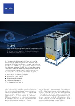 Catálogo MDDM - Glory Global Solutions
