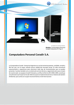 Computadora Personal Coradir S.A.