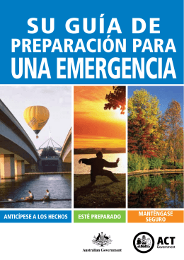 Spanish Guide to Planning For An Emergency