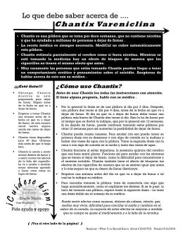 Chantix - Spanish.pub - Alameda County Behavioral Health