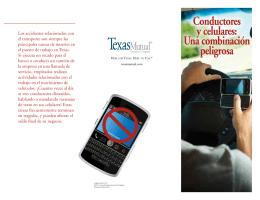 Conductores y celulares: Una combinación peligrosa